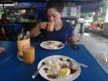 tanya eating nasi lemak Kuala Lumpur