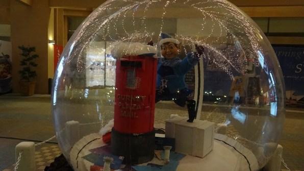 Elfin Mailbox Snow Globe