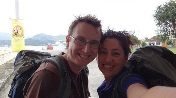 Self portait of our happy arrival on Langkawi