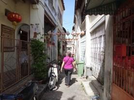 Walking the minuscule streets in Georgetown, Penang