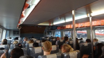 What the inside of the ferry from Penang to Langkawi looks like