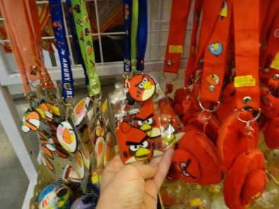 angry birds on a lanyard