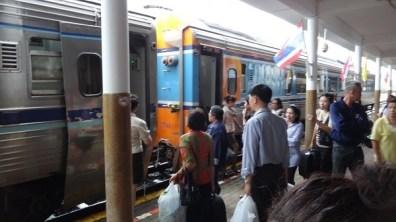 The train from Chumphon to Phetchaburi