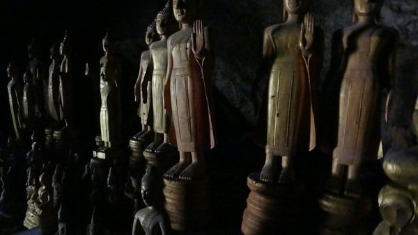 Buddhas at the Pak Ou Caves