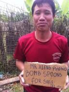 Phonsavan - Bomb Spoon Man - Mr Xieng Pheng
