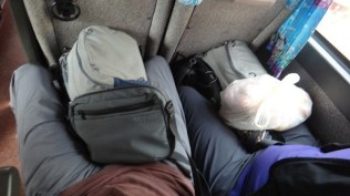 Battambang to Phnom Penh - Just enough room for us and our bags
