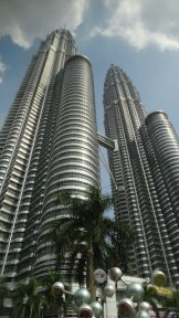 The Petronas Twin Towers From The Bus Window
