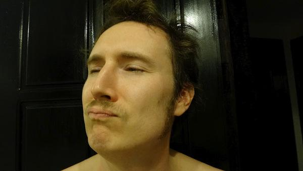 Andrew Showing Off His Moustache and Sideburns He Grew in Siem Reap, Cambodia