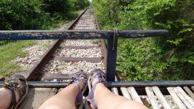 On The Bamboo Train, Battambang, Cambodia