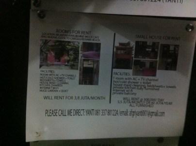Rooms and Small Houses For Rent Kerobokan Bali