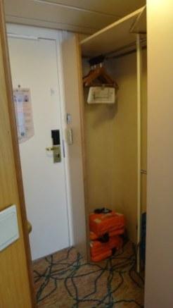 Oceanview Stateroom - Closet Area