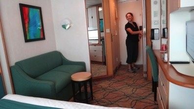 Oceanview Stateroom - View From The Bed