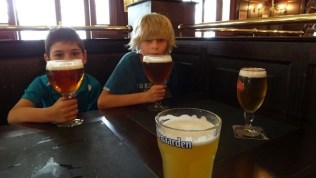The Boys With Their Beers In Perth