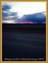 Bright Wyoming sunset.