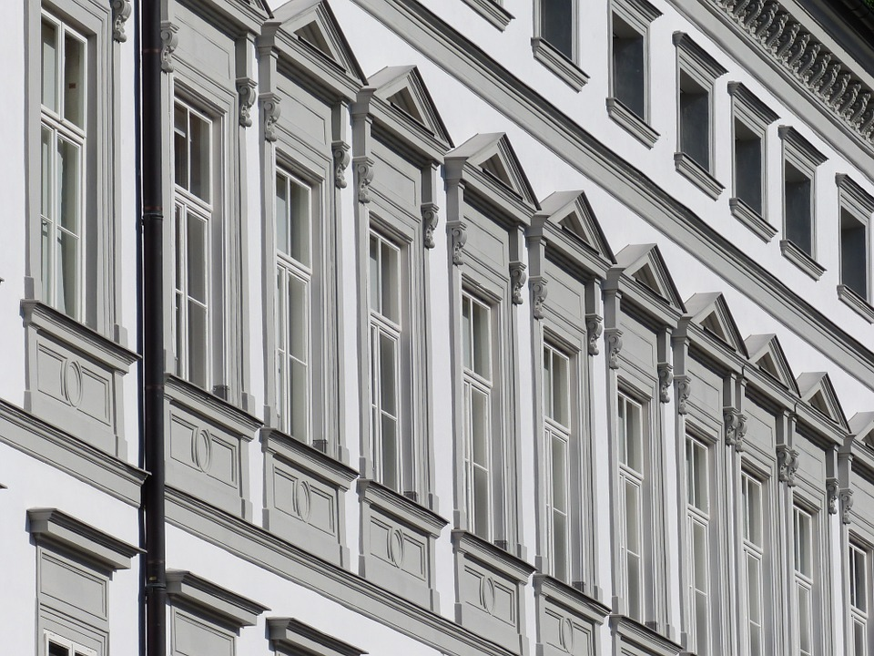 elegant building windows