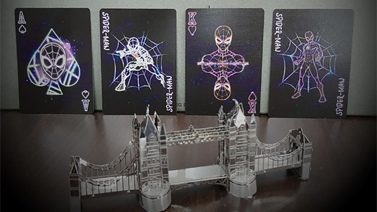 Avengers Spider-Man Neon Playing Cards