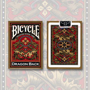 Bicycle Dragon Back Deck (Gold) by USPCC
