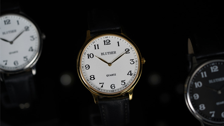Infinity Watch V3 - Gold Case White Dial / STD Version (Gimmick and Online Instructions) by Bluether Magic