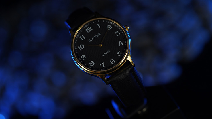 Infinity Watch V3 - Gold Case Black Dial / STD Version (Gimmick and Online Instructions) by Bluether Magic