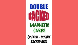 Magnetic Cards (2 pack/double back red) by Chazpro Magic.