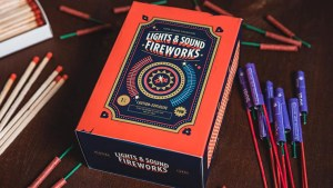 Fireworks (Half-Brick) Playing Cards by Riffle Shuffle