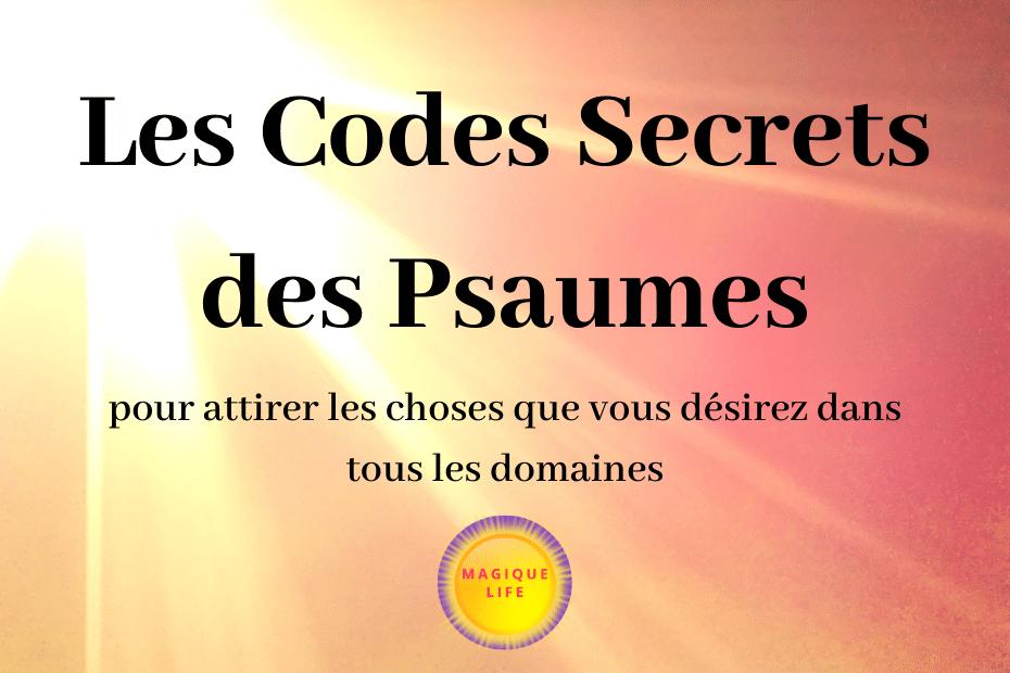 codes secrets des psaumes
