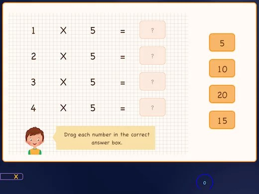 Learn each multiplication table in order from low to high.