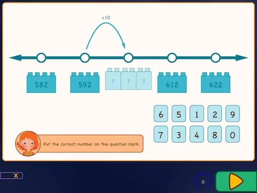 Estimate big numbers on number line.
