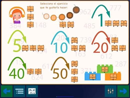 La configuración se realiza de tal manera que se aprenda a contar de 100 a 1000 en 22 pasos.