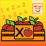 """App icon of the multiplication times table app: """"The ten times tables"""""""