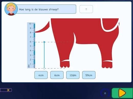 Leer meten met een lineaal op je iPad.
