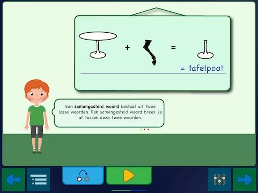 Elke oefening begint met een uitleg hoe je lettergrepen kunt gebruiken.