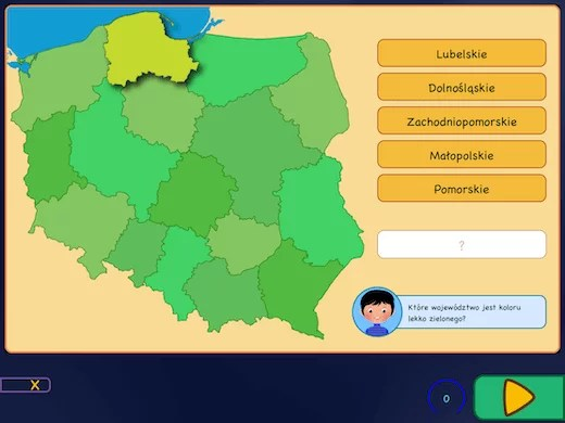 Topografia Polski - województwa i ich położenie