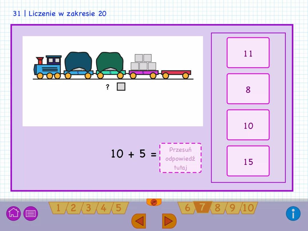 Leer optellen met de trein