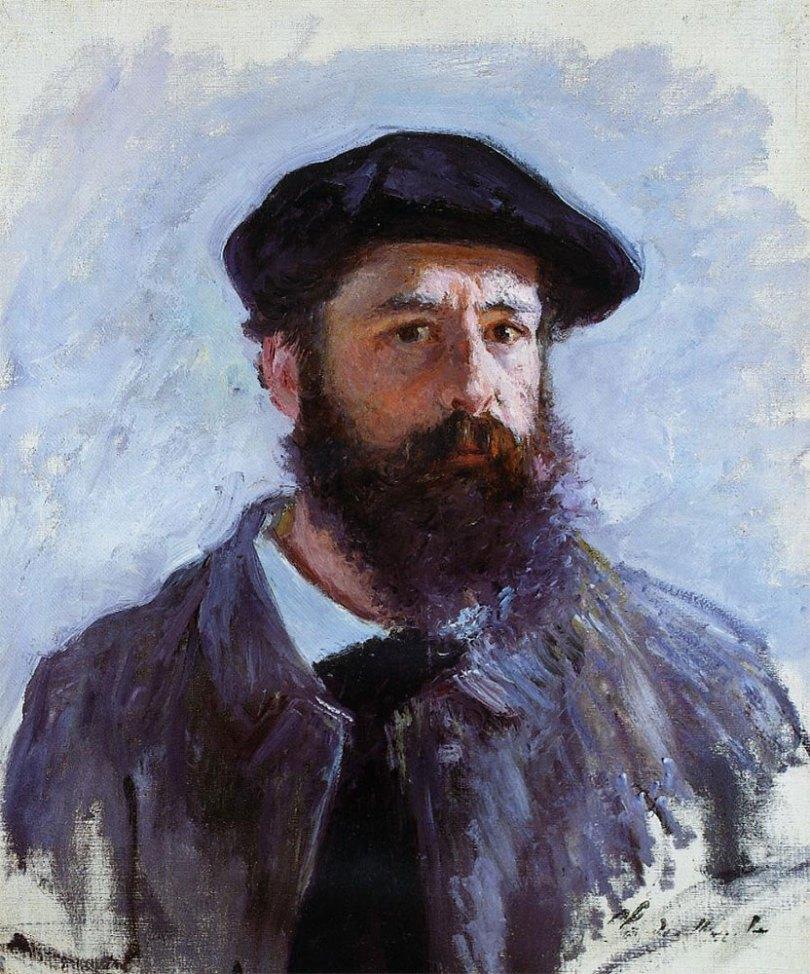 Claude Monet, autoritratto con basco
