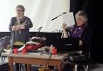 Un momento del workshop di Biella con Meg Swansen