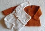 Il Baby cardigan creato da Alice Twain per il workshop di intruduzione alla costruzione top down