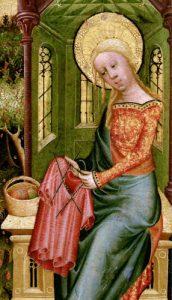 Visitazione dell'angelo di Betram di Minden, circa 1400 (particolare)