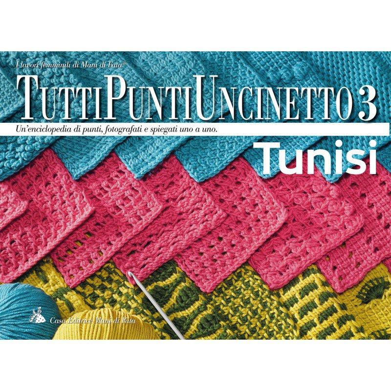 """Dizionario dei punti dell'uncinetto tunisino di Canetta """"Mani di fata"""""""