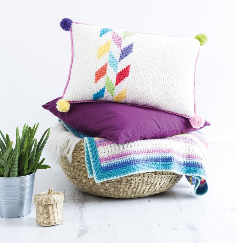 Herringbone Cushion di Poppy & Bliss