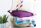 Herringbone Cushion di Poppy & Bliss