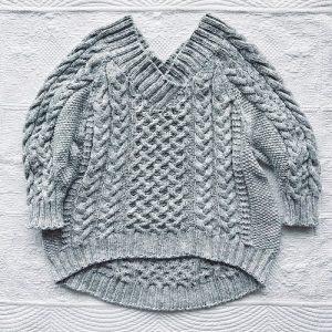 Early summer Yuko Shimizu maglione Denim DMC