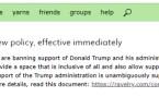 La breve dichiarazione nella homepage di Ravelry