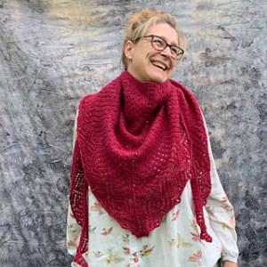 Scialle a maglia autunno