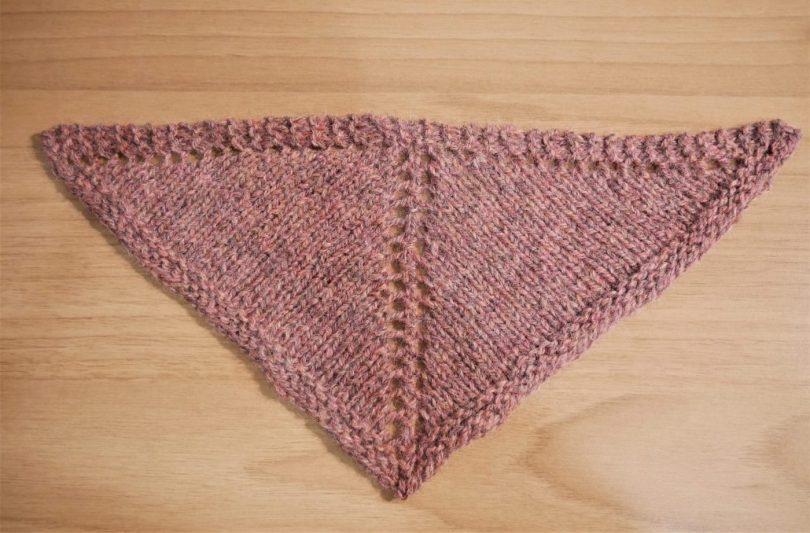 scialle top down triangolare