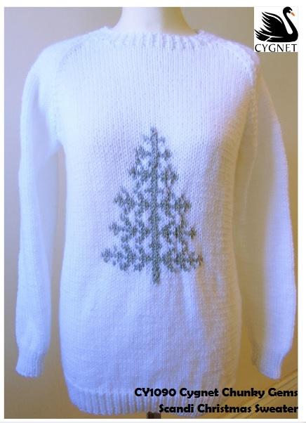 Maglione di Natale da donna di Cygnet Yarns