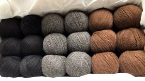 Filati nei colori naturali della fibra