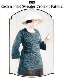 Maglione del 1919 all'uncinetto