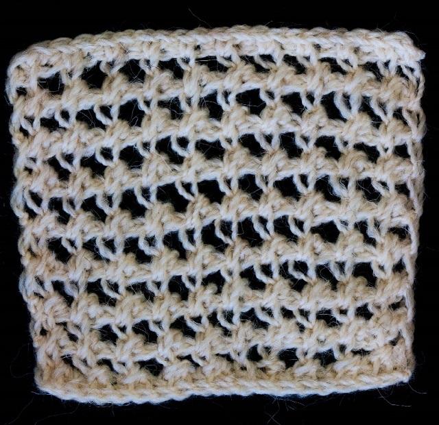 Punto a uncinetto tunisino tratto dalla pubblicazione del 1886: Knitting and Crochet - A Guide to the use of the Needle and the Hook