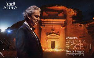 Andrea Bocelli a Hegra, spettacolo gratuito e in diretta su YouTube